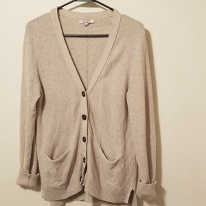 Madewell cream colored button up cardigan M
